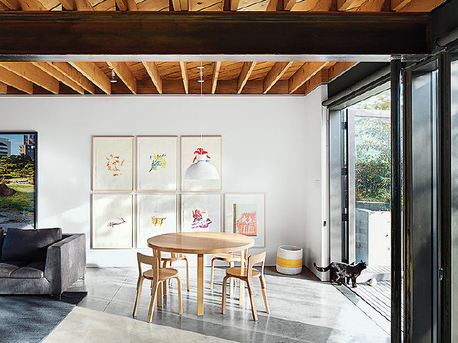 """Stephen Waddell and Isabel Kunigk worked with architect D'Arcy Jones to breathe new life into their """"dank old"""" structure."""