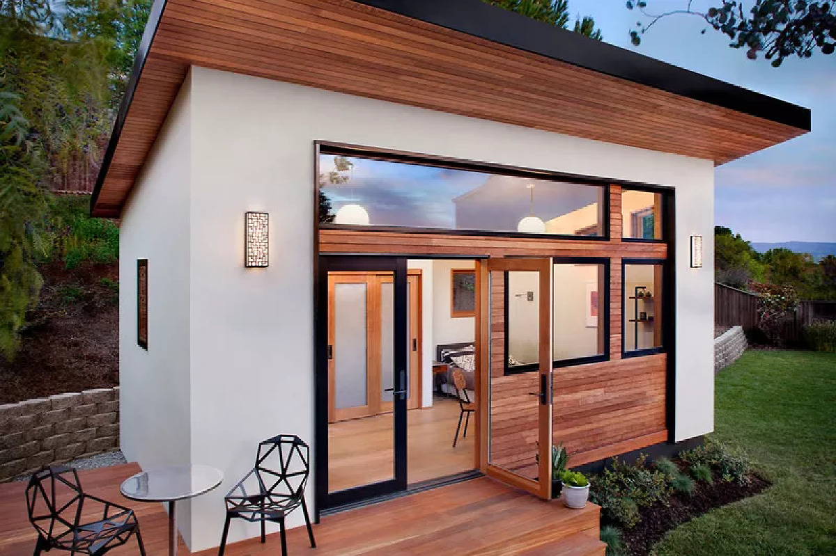 But it does not come cheap Tiny living and prefab construction collide beautifully in this backyard guesthouse designed by Bay Area upstart Avava Systems.