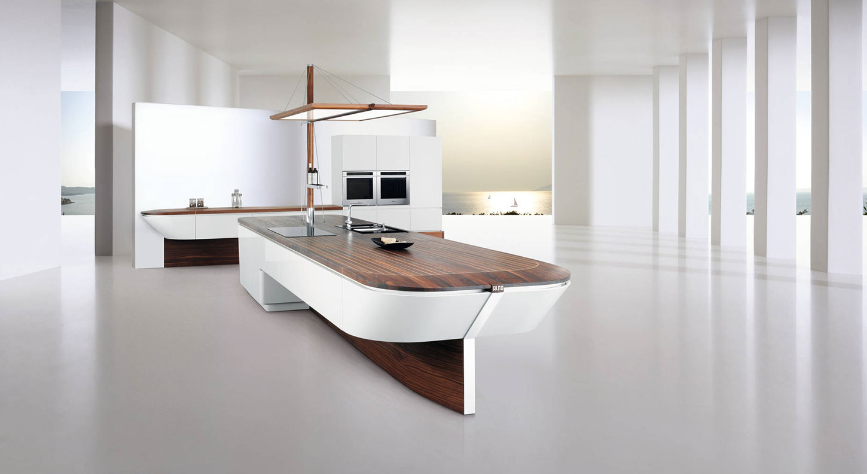 Futuristic Kitchen Islands
